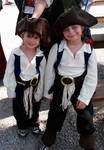 Two cute boys who entered the Jack Sparrow lookalike contest