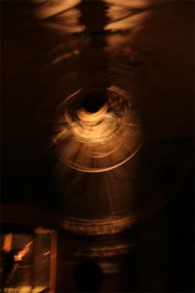 A rotating wheel of bells