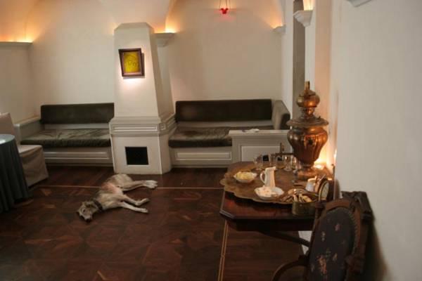 Tula's Tea Room - Tula featured on the floor.