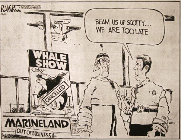 Cartoon about closure of Marineland