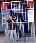 Brett & Jordan in the shark cage