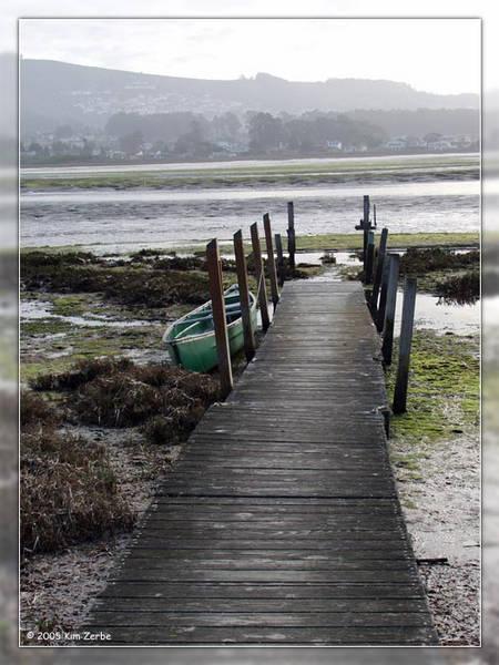 Morro Bay dock at low tide