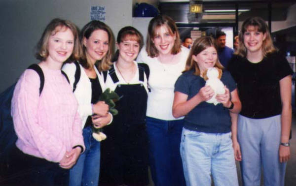 Group of friends my senior year in HS. From l to r - Krista, Michele, Melody, me, Sarah, and Heather