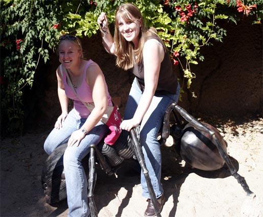 Leah and I, and our noble steed, of course. (2006)