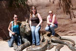 Kari, me, and Leah at the zoo (2006)