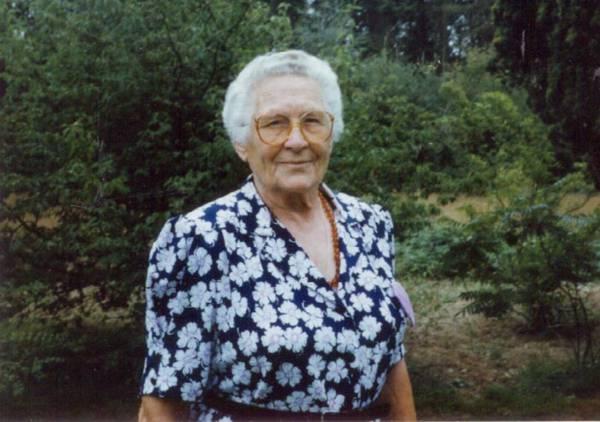 Omi, my grandmother (my mom's mom)