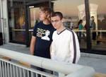 Jordan and Brett looking at Monterey Bay.