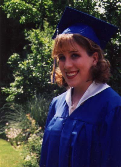 My high school graduation. Age 17